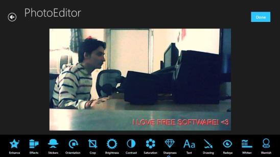 ImageEditors - editing screen