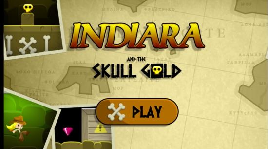 Indiara And The Skull Gold- Main screen