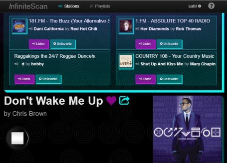 InfiniteScan- save radio stations