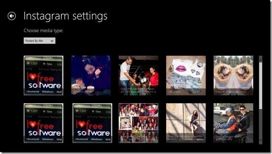 Instagram Lock Screen - changing photos source