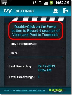 Ivy Video for facebook