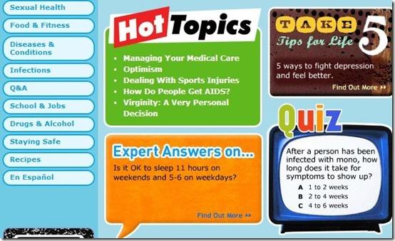 KidsHealth-health website for kids-for teens
