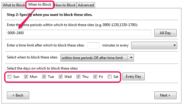 LeechBlock- enter the time periods to block sites
