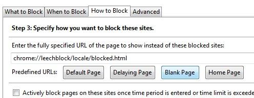 LeechBlock- specify how to block sites