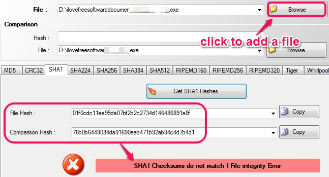 MD5 Hash Check- add files to check integrity
