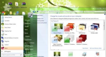 Merry Christmas Windows Theme-free Christmas theme for Windows 7-theme