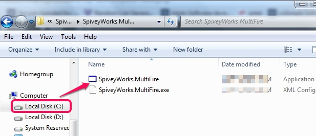 MultiFire- execute application file once