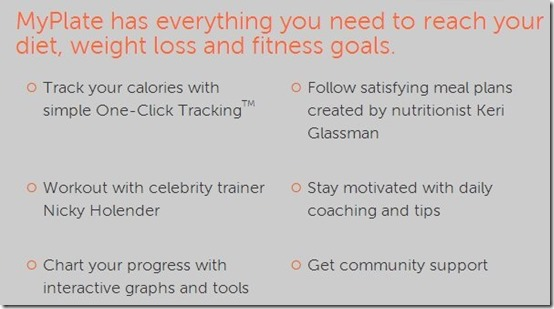 MyPlate-maintain new year resolutions-home page