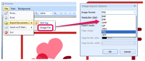 Nifty Author- convert an image while previewing it