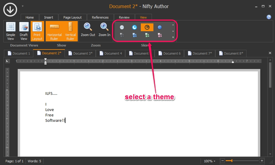 Nifty Author- multiple themes available