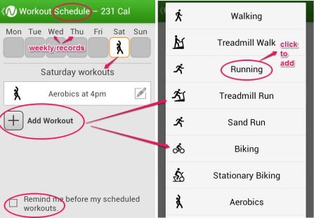 Noom Workout schedules