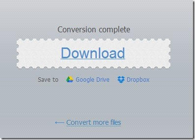 Online Video Converter- save the output media file