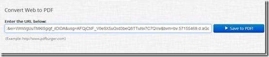 PDF Burger-website to pdf-add URL