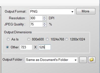 PDF To JPG Expert- set output settings