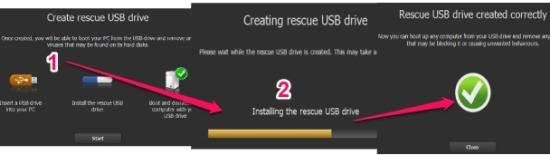 Panda Cloud Cleaner rescue USB drive- create rescue usb