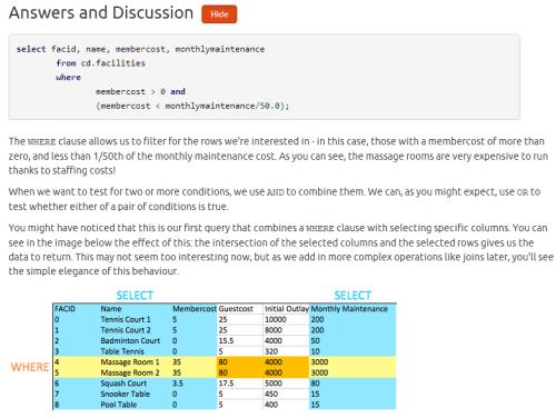 Practice SQL For Free - PostgreSQL Exercises - Discussion