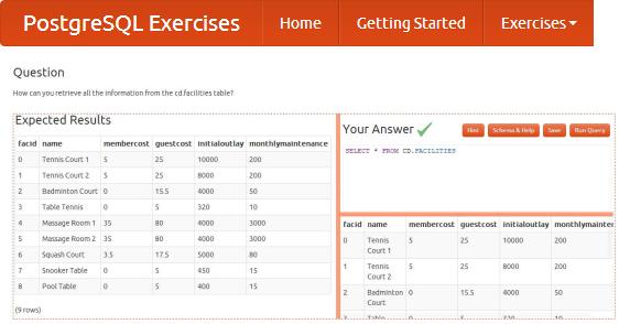 Practice SQL For Free - PostgreSQL Exercises