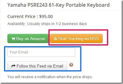 Price Drop You Save-amazon price tracking website-track products
