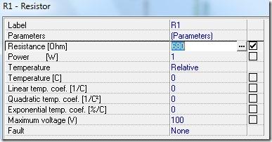 TINA-TI - Component Properties