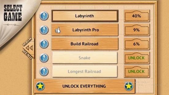 Rail Maze- Select game type