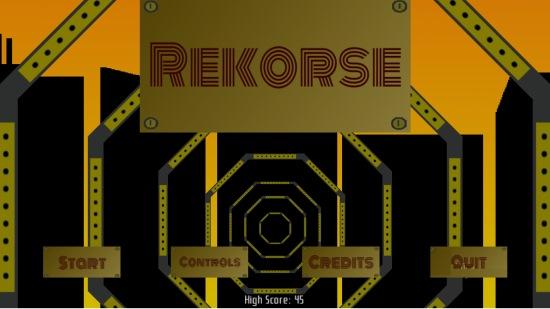 Rekorse- Main menu