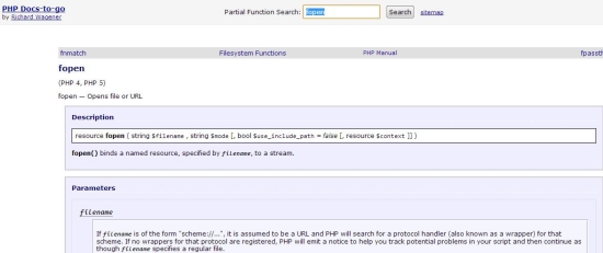 Free PHP documentation - PHP docs-to-go - Search for functions