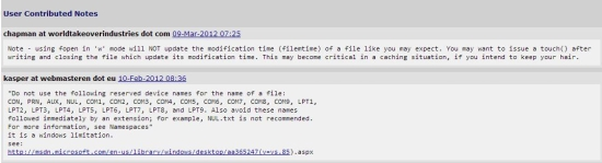 Free PHP documentation - PHP docs-to-go - User Notes