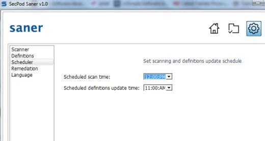 SecPod Saner- scheduler