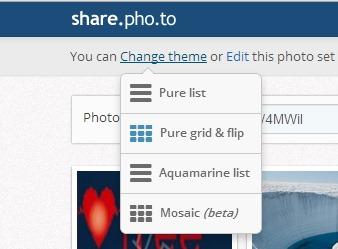 Share.Pho.to- change theme