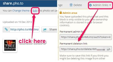 Share.Pho.to- delete uploaded photo set