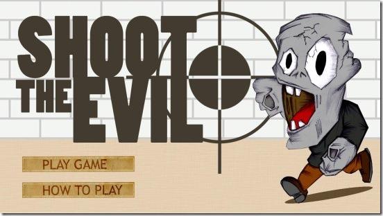 Shoot The Evil - main screen