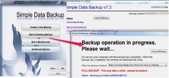 Simple Data Backup- backup files on scheduled time