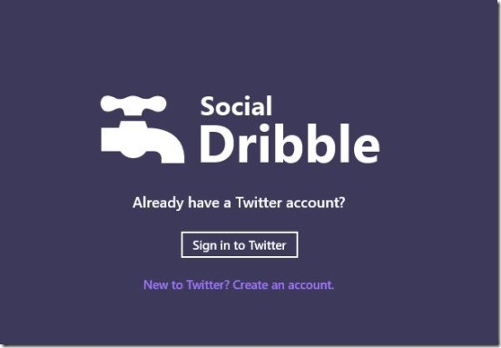 Social Dribble - sign in