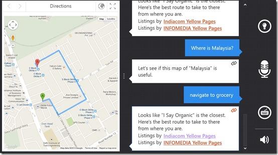 Speaktoit Assistant- Navigate to places