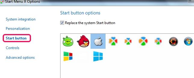 Start Menu X- change start button