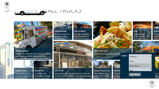 StreetEats - filtering all food trucks