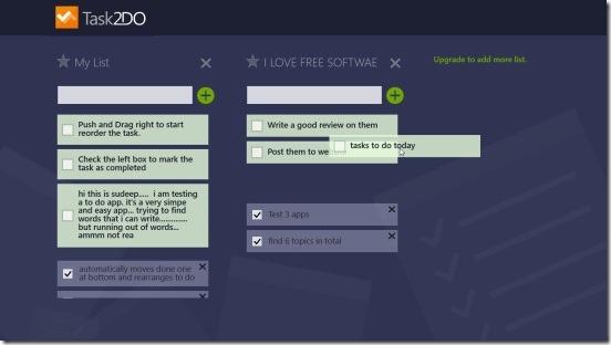 Task2DO - rearranging tasks and completed tasks