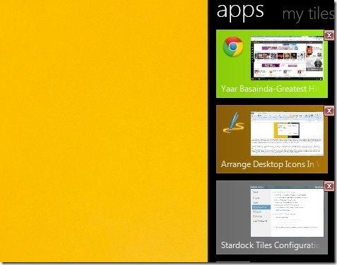 Tiles-arrange desktop icons-appications page