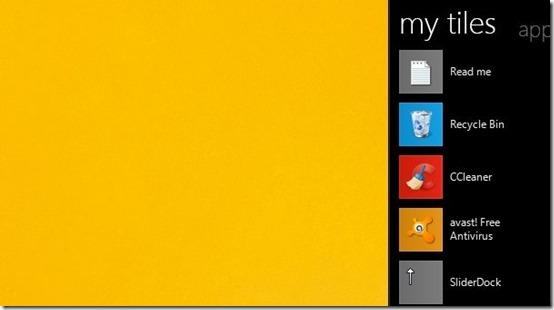 Tiles-arrange desktop icons-sidebar
