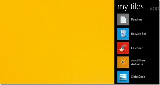 Tiles- arrange desktop icons-tiles bar