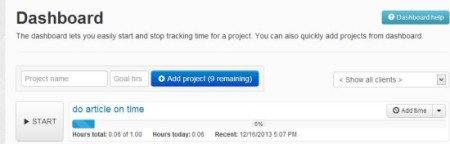 Time Tracker Turbo-time tracking-add project
