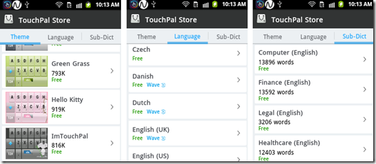 TouchPal store