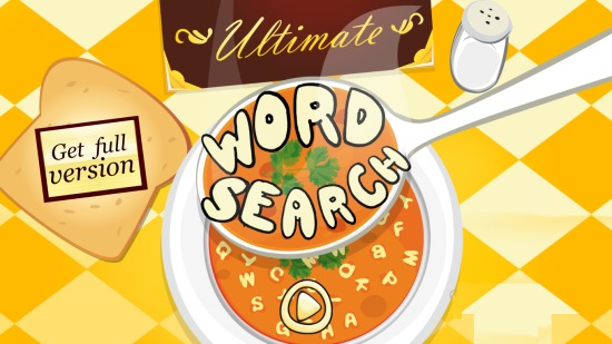 Ultimate Word Search Free- Main Home Screen