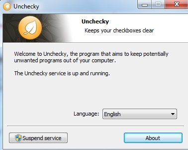Unchecky- interface