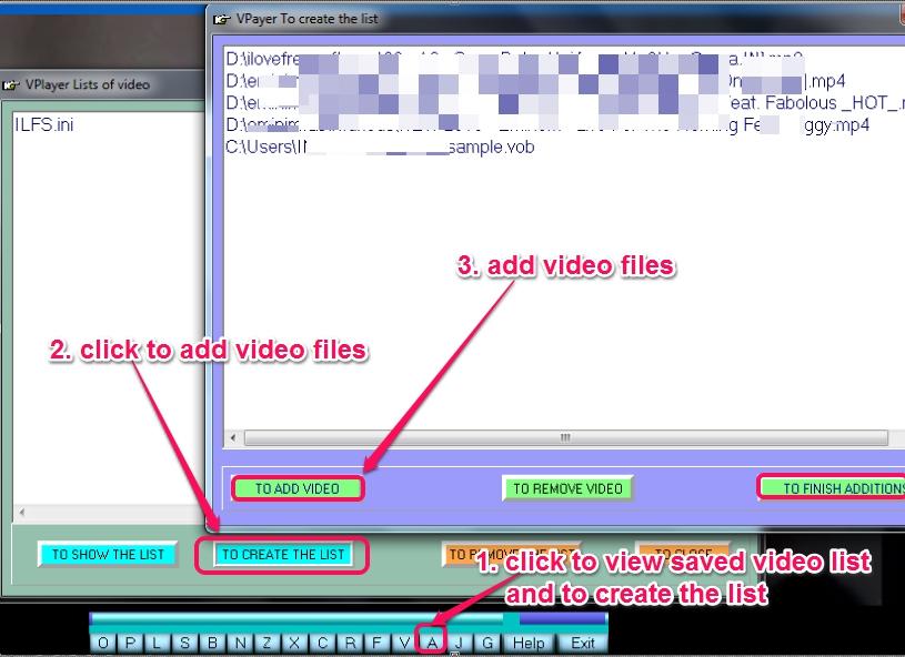 VPlayer- add videos to list