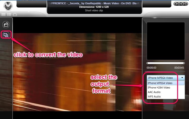 Venux Multimedia Engine- convert a video