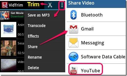 Vide Trim features