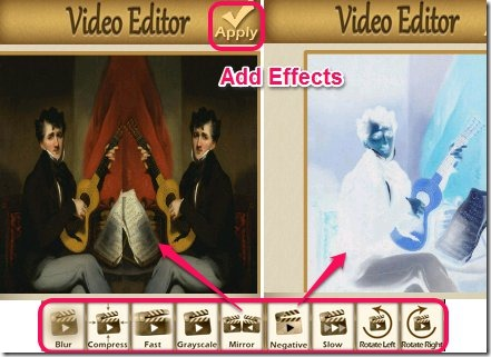 Video editor effects.