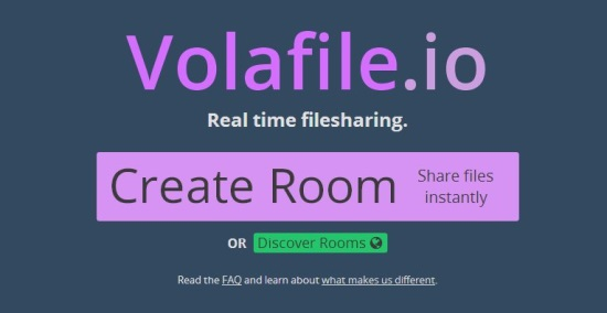 Volafile.io - Homescreen