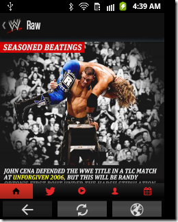 WWE official App